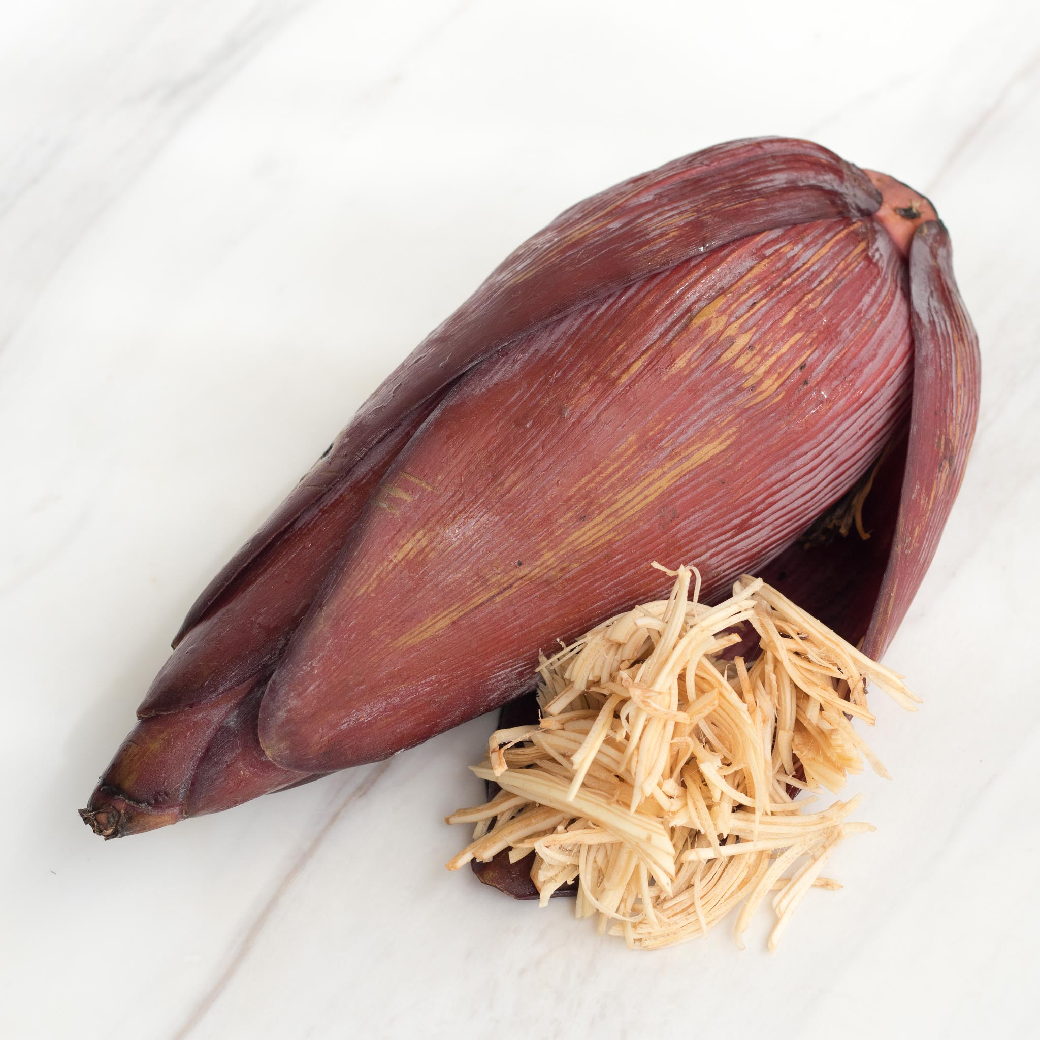 Banana Flower thinly sliced